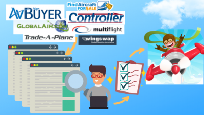 Search all aircraft listing websites in one go!