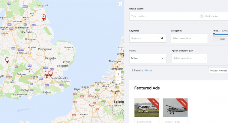 The Map Search. Find Aircraft For Sale near you!